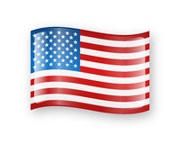 USA flag icon Royalty Free Stock Photography