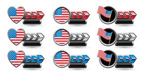 USA flag icons Stock Images