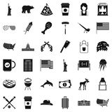 Usa flag icons set, simple style Stock Image
