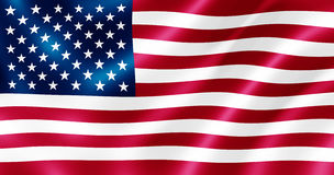USA flag illustration. Royalty Free Stock Photos