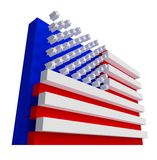 USA Flag. Include clipping path. Royalty Free Stock Photos