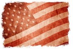 USA flag isolated on white Royalty Free Stock Photo