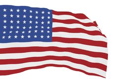 Usa flag isolated in white - 3d rendering. Usa flag isolated in white background - 3d rendering royalty free illustration