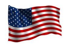 USA flag isolated on white background. Vector illustration vector illustration