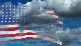 Usa flag isolated in white - 3d rendering. Usa flag isolated in white background - 3d rendering Stock Photo