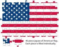 USA flag jigsaw Stock Photo