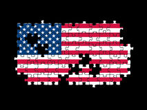 USA flag jigsaw Royalty Free Stock Image