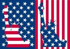 Usa flag liberty Stock Photography
