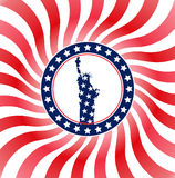 Usa flag liberty Royalty Free Stock Image