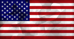 USA flag low polygon background. Royalty Free Stock Images