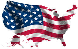 USA flag and map Royalty Free Stock Photo