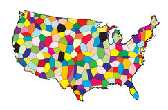 USA Flag Map Patchwork Royalty Free Stock Images