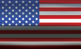 USA Flag Metallic Wavy Texture Abstract Background. United States of America flag on wavy metallic texture background. Vector illustration. American symbol Stock Images