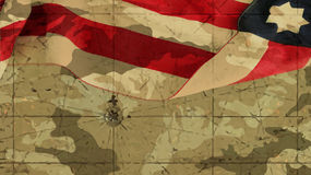 Usa Flag Mimetic Background and Chart. Usa Flag Mimetic Background and Nautical Chart vector illustration