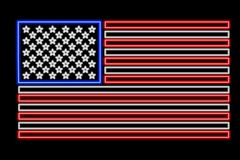 USA flag neon Royalty Free Stock Photography