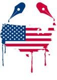 Usa flag nib Royalty Free Stock Photography