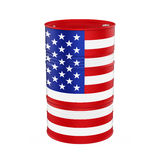 USA Flag Oil Barrel. Isolated on white background. 3D render vector illustration