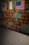 USA flag on old brick wall Stock Image