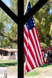 Usa flag in old town san diego. california, United States of America stock image