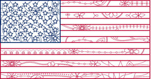 USA flag outline Stock Photos