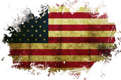 USA flag paint. A USA flag with a painted white border Stock Photos