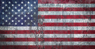 USA Flag painted on a Wall. Ddistressed Painting of a Flag on an old Wall Stock Photography