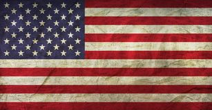 USA Flag on Paper. Flag on an old Paper Texture Stock Photography
