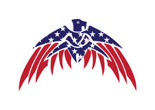 USA Flag Patriotic Eagle Bald Hawk Vector Logo Royalty Free Stock Photos