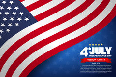 USA flag pattern background Stock Images