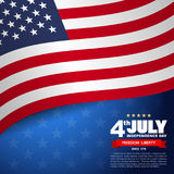 USA flag pattern background Royalty Free Stock Photos
