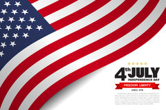 USA flag pattern background Stock Photography