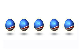 USA Flag Pattern Easter Egg Isolated Royalty Free Stock Images
