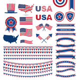 USA flag pattern element Royalty Free Stock Photos
