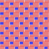 USA flag pattern Stock Images