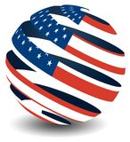 USA flag with peel effect royalty free stock photo