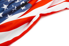 USA flag with place for your text - studio shot Stock Images