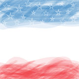 USA flag. A poster with a large scratched frame. Royalty Free Stock Images