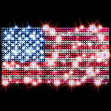 USA flag in rhinestones Stock Photography