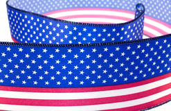 USA flag ribbon Stock Photos