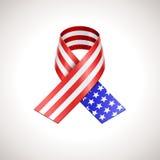 USA Flag Ribbon Royalty Free Stock Images