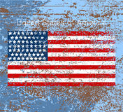 USA flag scene Stock Images