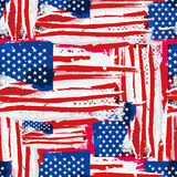 USA Flag Seamless Background. Royalty Free Stock Photos