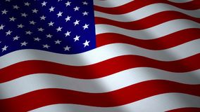 USA flag, seamless loop. 3d render stock video footage