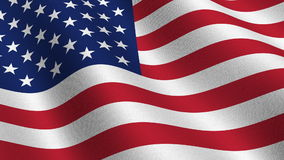 USA flag - seamless loop stock video footage