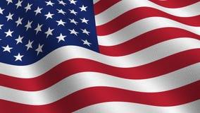 USA flag - seamless loop stock video footage