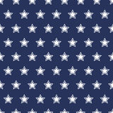 USA flag seamless pattern. White stars on a blue background. USA  flag seamless pattern. White stars on a blue background Royalty Free Stock Photo