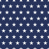 USA flag seamless pattern. White stars on a blue background. Memorial day. USA  flag seamless pattern. White stars on a blue background. Memorial day Stock Photography
