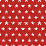 USA flag seamless pattern. White stars on a red background. USA  flag seamless pattern. White stars on a red background Stock Photo