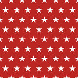 USA flag seamless pattern. White stars on a red background. Memorial day Royalty Free Stock Photography