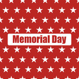 USA flag seamless pattern. White stars on a red background. Memorial day. USA  flag seamless pattern. White stars on a red background. Memorial day Royalty Free Stock Photos